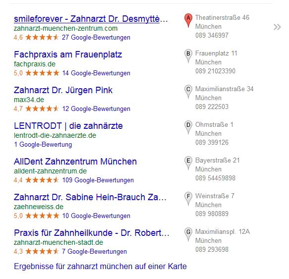 Google-AdWords-Zahnärzte