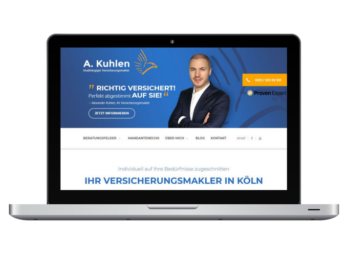 Desktop neue Webseite